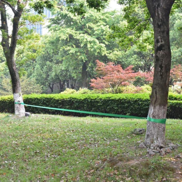 Corde Lâche Pour Slackline 15 M X 50 Mm 150 Kg Vert - -YIN