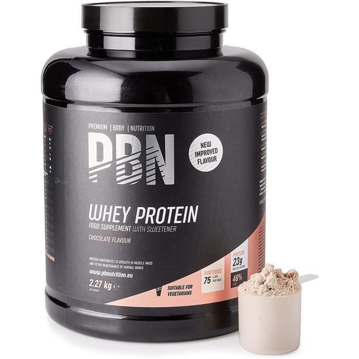 PBN - Premium Body Nutrition Whey Protéine en Pou e, 2.27kg Chocolat, Nouvelle saveur améliorée100