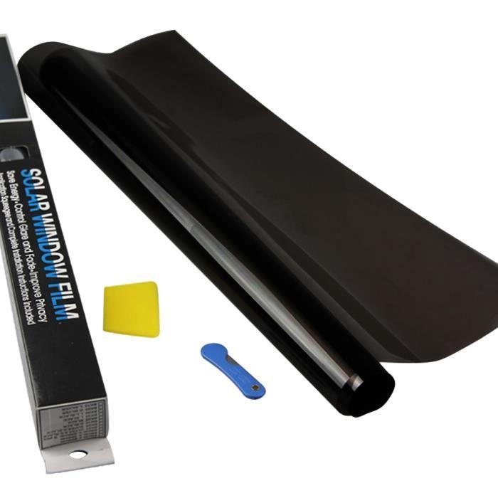 Film de Protection solaire pour vitres - Noir foncé, 1 pli, pour voiture maison Auto commerciale, 1 - Modèle: VLT 5 - ANQCFSYA01211