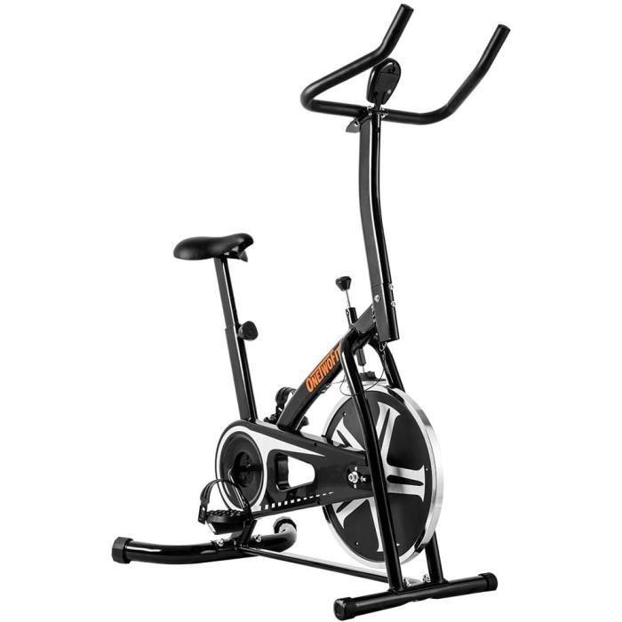 OneTwoFit Vélo d'appartement- Studio d'intérieur Cycles Entraînement Vélo Fitness avec Siège à Hauteur Réglable et Écran LED- P[259]