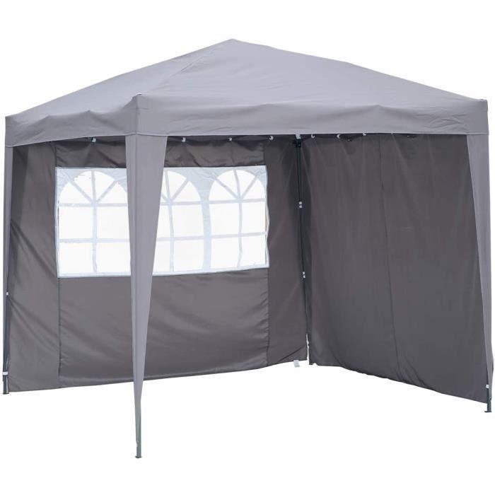 PERGOLA Angel Living 2.5x2.5 m Tente Pliante avec 2 C&ocirct&eacutes, R&eacutesistant &agrave l'eau et Aux UV, Tonnelle Pavi35