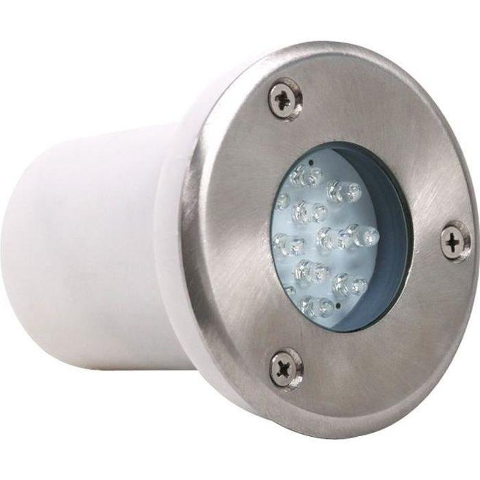 Spot LED rond étanche 1.2W IP67 à encastrer au sol