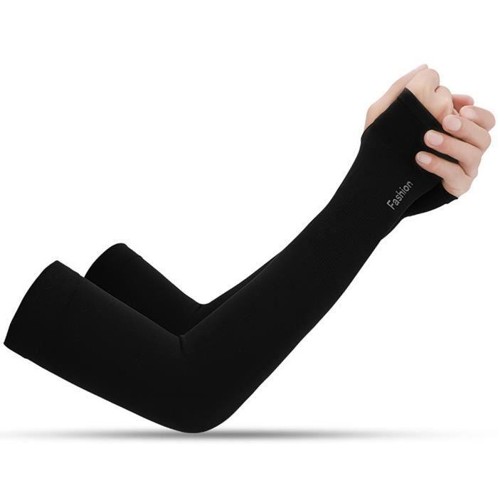 1 paire de manches de bras de refroidissement Housse de bras absorbant de protection UV pour le cyclisme en plein air_