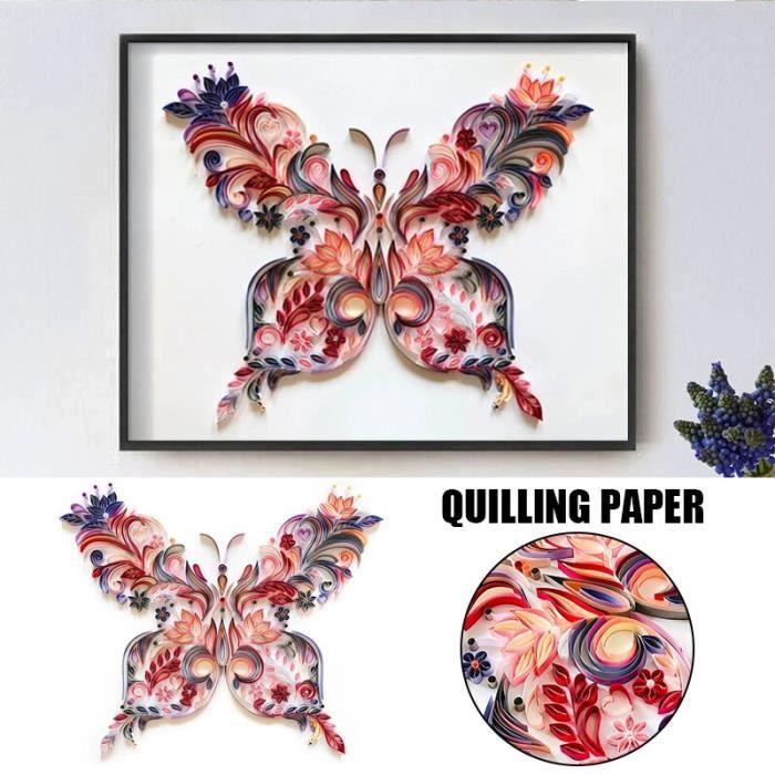 Kit de peinture en papier Quilling autocollants muraux pour chambre d'enfants décoration de maison T objet decoratif YFGJ1086