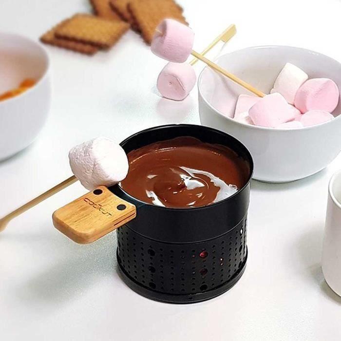 Fondue au Chocolat Ecologique 2 Personnes - Cookut Noir Et Bois