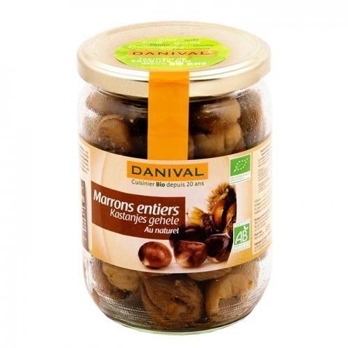 DANIVAL - Marrons entiers au naturel bio 320 g
