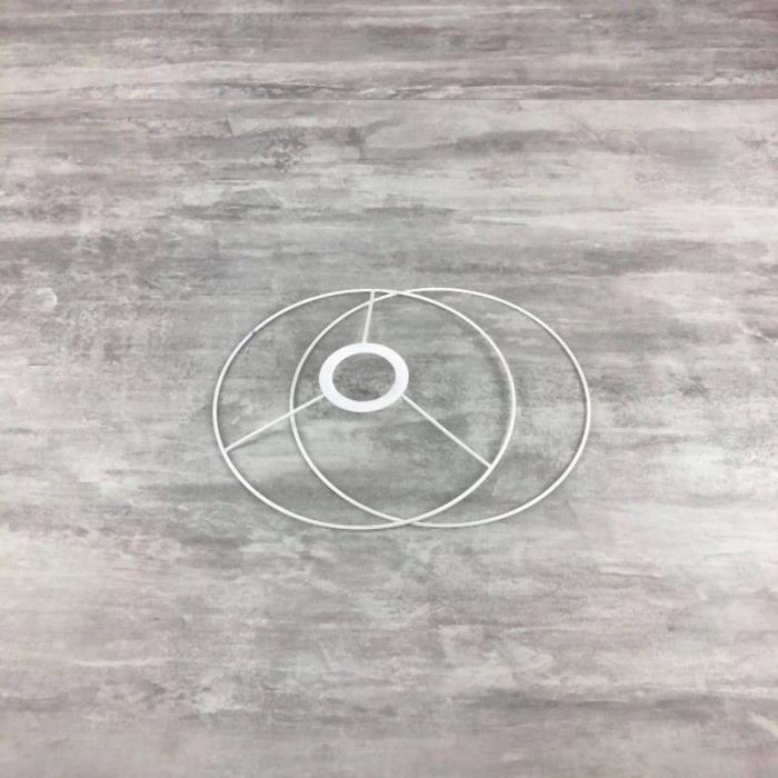 Set d'Ossature pour abat-jour, Forme ronde diamètre 20 cm - Unique