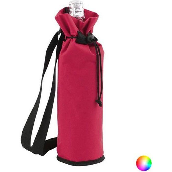 Sac glacière bouteille avec fermeture réglable 1,5 L - sac pour gourde isotherme Couleur - Noir