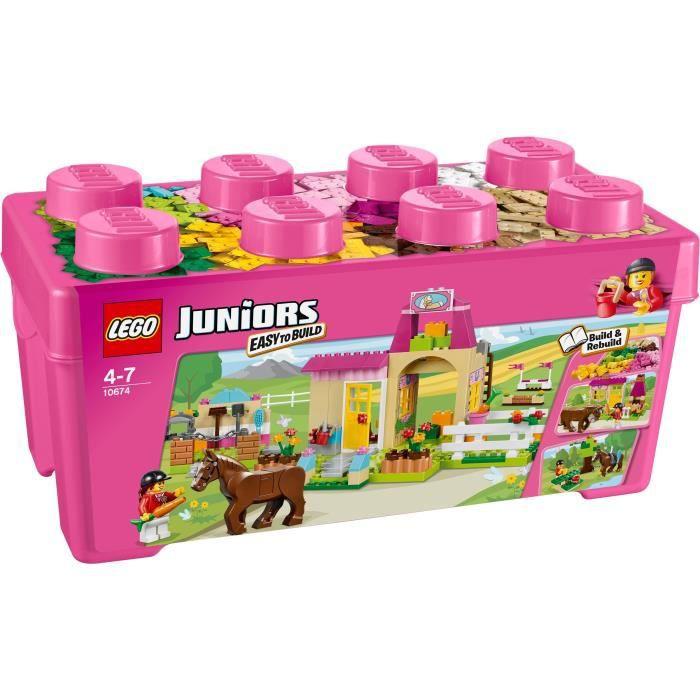 LEGO® Juniors 10674 La Grande Boite du Centre Equestre - 306 pièces