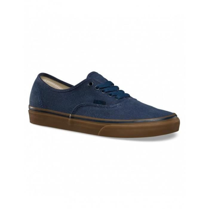 Chaussures Vans U Authentic Washed Canvas - Dress Blues / Gum