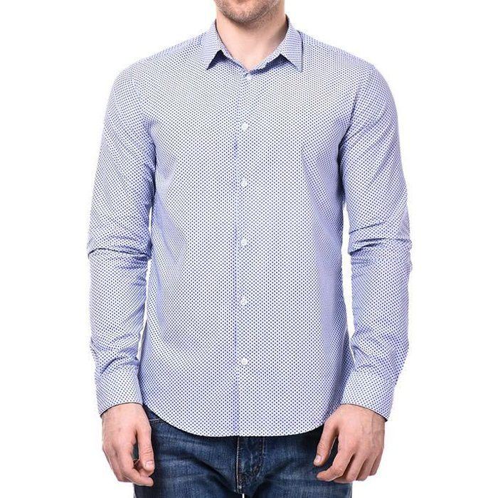 Chemise Armani Jeans Bleu Clair Slim Fit Manches Longues pour hommes. 6X6C09 2502.