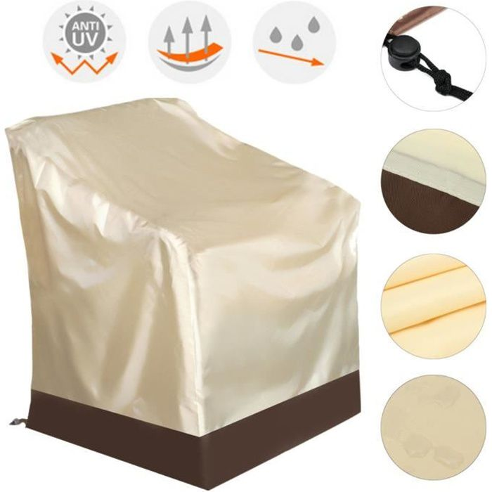 Housse de Fauteuil Chaise Jardin Protection Pour Anti-poussière Couvercle Durable 84x67x73cm