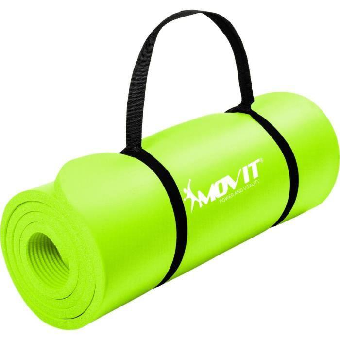 MOVIT Tapis de gymnastique 190cm x 60cm x 1,5cm, vert clair