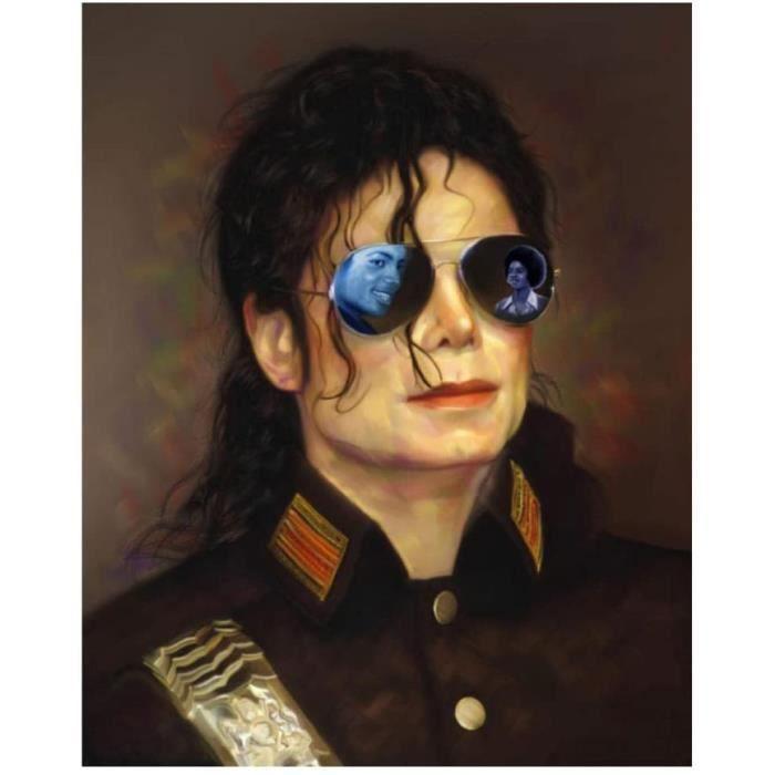 DIY Point De Croix Peinture Au Diamant Kits 5D 40X50cm Michael Jackson MJ Diamant Peinture Diamant Broderie Strass@Z6673