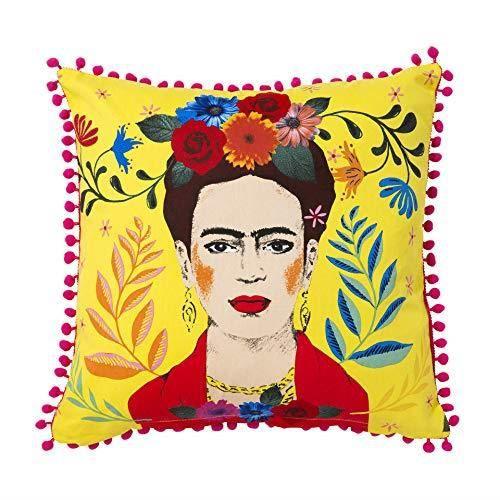 Talking Tables Frida Kahlo - Coussin Frida - 45 x 45 cm BOHO-CUSHION