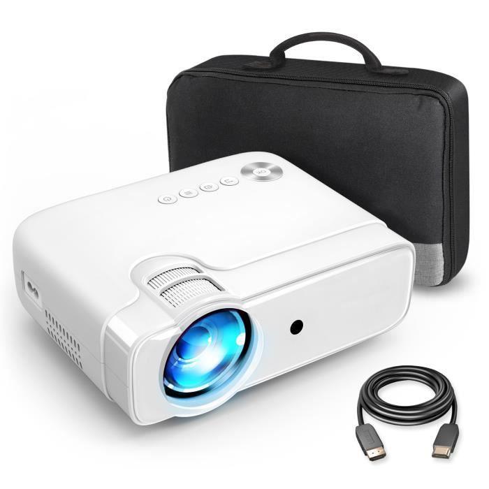 VANKYO Leisure 430 Mini Vidéoprojecteur 4500 Lux Supporte 1080P Retroprojecteur Portable Multimédia Cinéma Maison Blanc