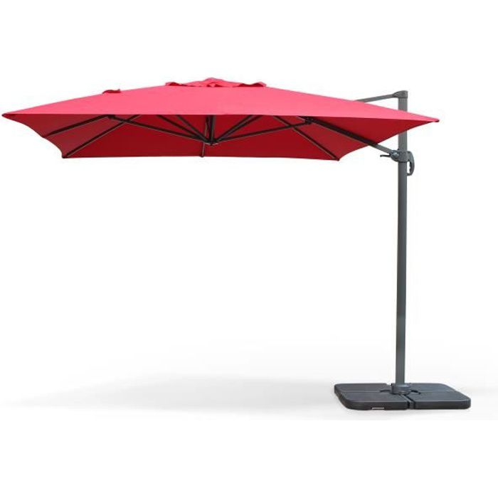 st jean de luz parasol d port 3x4m rouge achat vente parasol parasol 3x4m st jean de luz. Black Bedroom Furniture Sets. Home Design Ideas