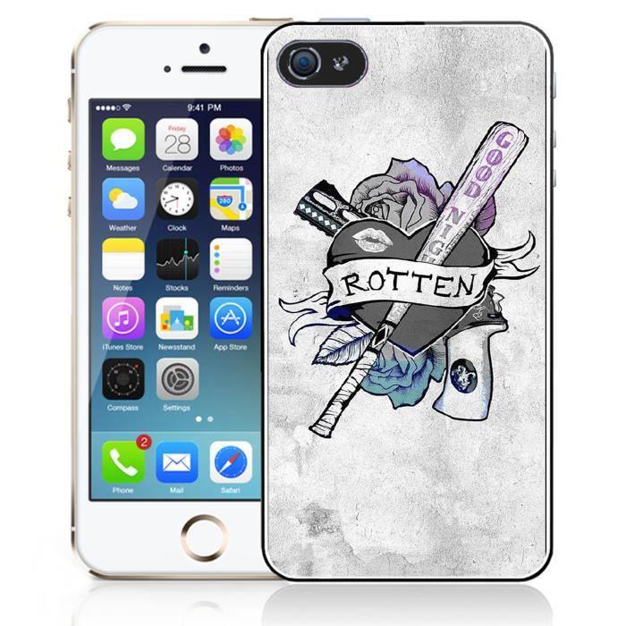 Coque iPhone 5 - 5S - SE Suicide Squad - Harley Qu