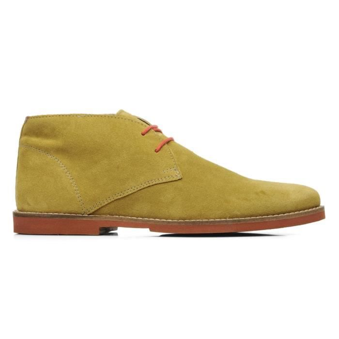 Chaussures Montante FRANCK WRIGHT Bridges leather Curry Suede Homme Pointure 42
