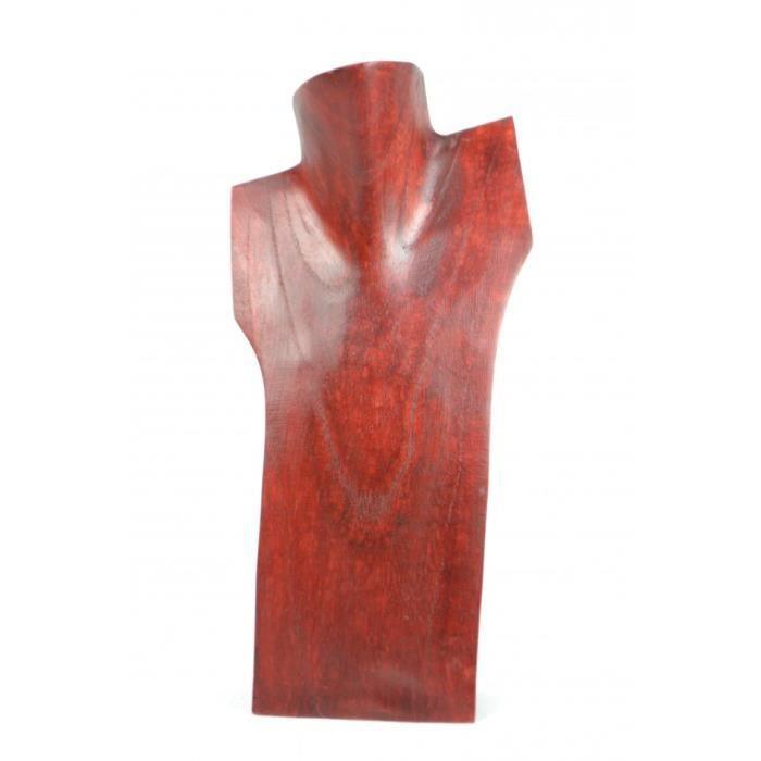 Artisanal Buste pr/ésentoir /à Colliers en Bois Massif Brut H30cm