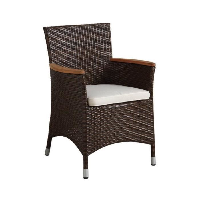 chaise de jardin en r sine marron achat vente fauteuil jardin chaise de jardin en r sine. Black Bedroom Furniture Sets. Home Design Ideas