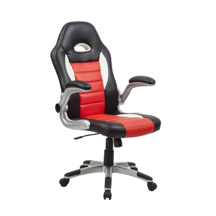 chaise fauteuil de bureau ergonomique pivotant achat vente chaise de bureau rouge cdiscount. Black Bedroom Furniture Sets. Home Design Ideas