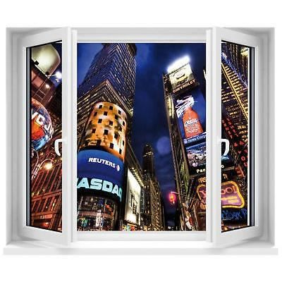 Sticker fen tre trompe l 39 oeil new york city r f 207 for Stickers fenetre new york