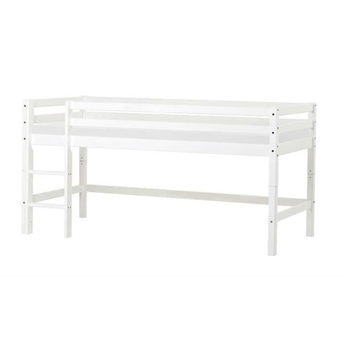 lit mi hauteur basic 70 160 blanc achat vente structure de lit cdiscount. Black Bedroom Furniture Sets. Home Design Ideas