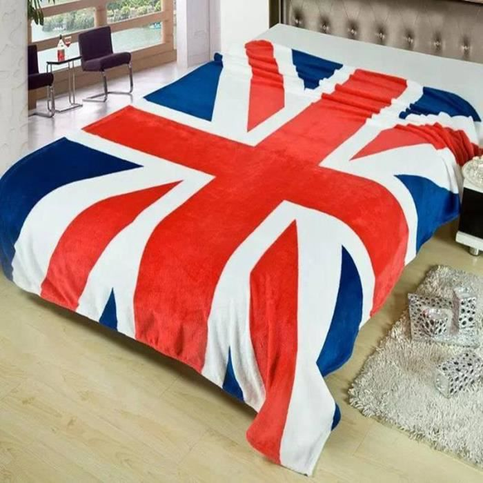 150 200 cm hiver couverture chaude britannique drapeau textile polaire couvertures sur la. Black Bedroom Furniture Sets. Home Design Ideas