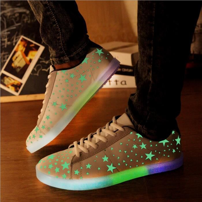Chaussures de chaussures lumineuses chaussures chaussures chaussures homme et femme ZXHEZX