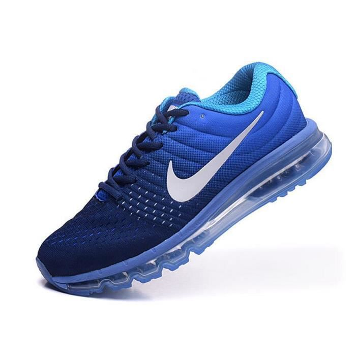 nike air max 2017 baskets chaussures de sport homme femme bleu noir tu achat vente basket. Black Bedroom Furniture Sets. Home Design Ideas