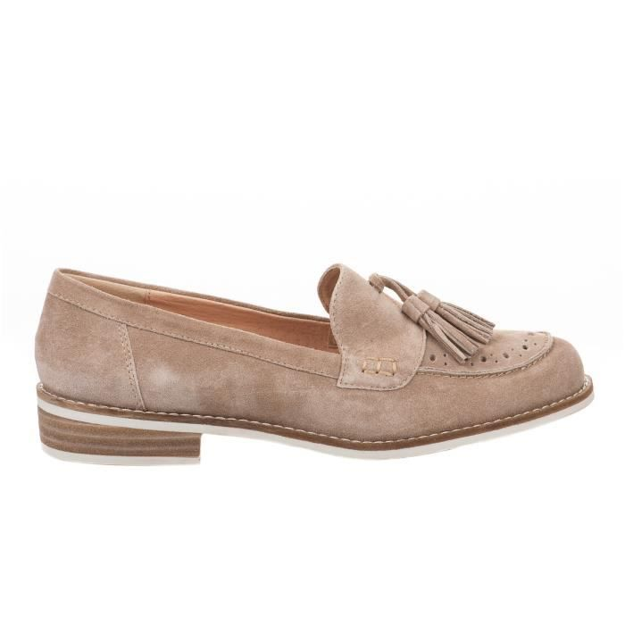 Mocassins femme - MADISON - Beige - ACACIA WatE49a