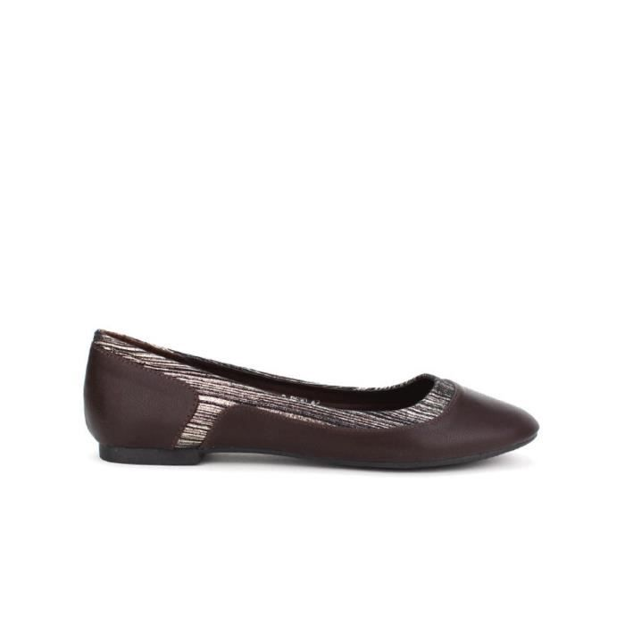 Ballerines Marron Chaussures Fem… ijWqI