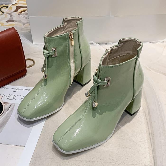 Femmes Noir Plateforme Talons Court Pantalon Chaussons Bottes Chaussures vente bon marché