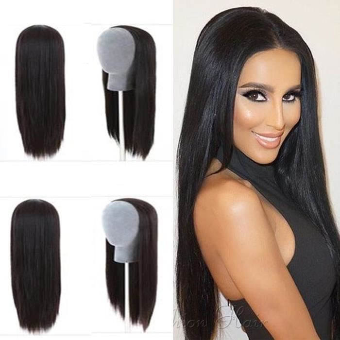 1-2 Lace Wig Perruque Cheveux Naturel 100