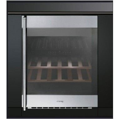 cave a vin de service integrable inox smeg cvi38xs achat. Black Bedroom Furniture Sets. Home Design Ideas