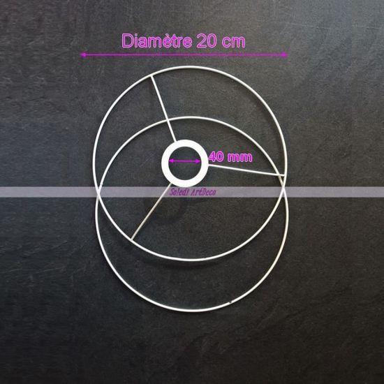 Set dOssature pour abat-jour Forme ronde diam/ètre 20 cm