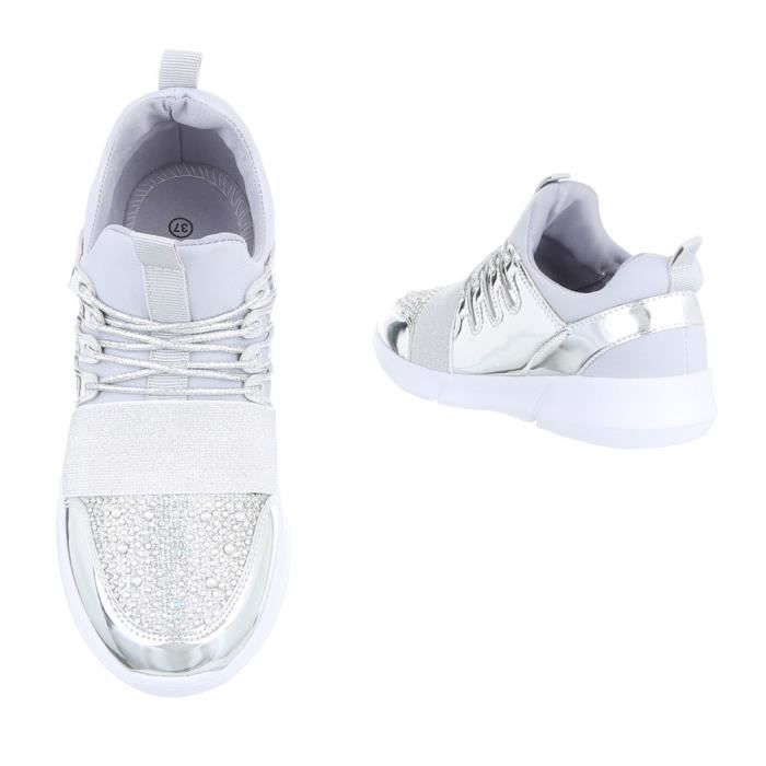 Chaussures femme chaussures sportSneakers Chaussures de sport argent 41