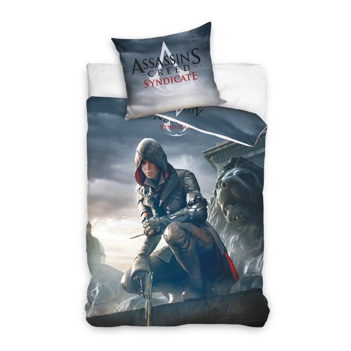 assassin 39 s creed syndicate parure de lit r versible 100 coton housse de couette 160x200 cm. Black Bedroom Furniture Sets. Home Design Ideas