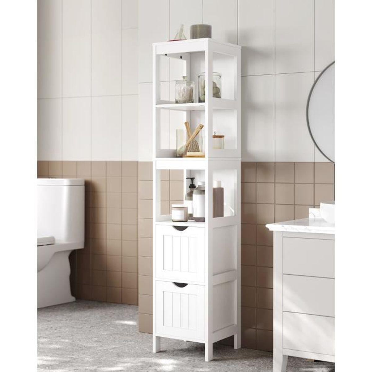 Armoire Haute De Salle De Bain vasagle salle de bain,armoire haute,placard de rangement