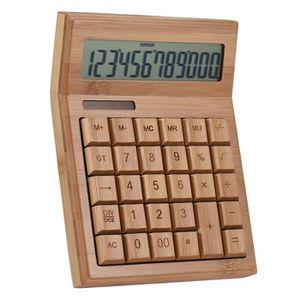 CALCULATRICE Compteur électronique multifonctionnel de bambou d