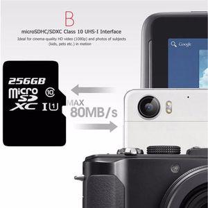 CARTE MÉMOIRE Carte SD Micro SD 256Go 256G SDHC Class 10 UHS-I T