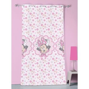 VOILAGE Voilage à oeillets rose Minnie Mouse 140x240cm