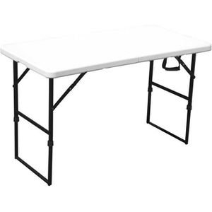 TABLE DE JARDIN  Table pliante portable de camping 122 cm 4 places