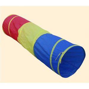 TENTE TUNNEL D'ACTIVITÉ Enfants Tente Grande maison de jeu à trois couleur