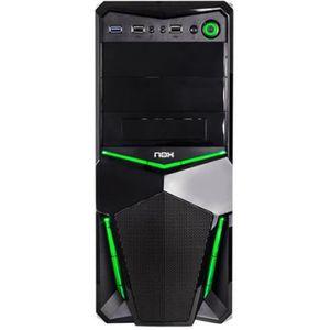 BOITIER PC  NOX Pax Green Edition tour midi ATX pas d'alimenta