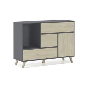 BUFFET - BAHUT  Buffet WIND 1 porte, 3 tiroirs, couleur structure