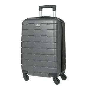 VALISE - BAGAGE CITY BAG Valise Cabine Ultralight ABS 4 Roues Noir