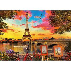 PUZZLE EDUCA Puzzle 3000 pièces Coucher De Soleil A Paris