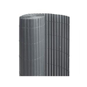 CLÔTURE - GRILLAGE Canisse PVC double face Anthracite 6 m - 2 rouleau